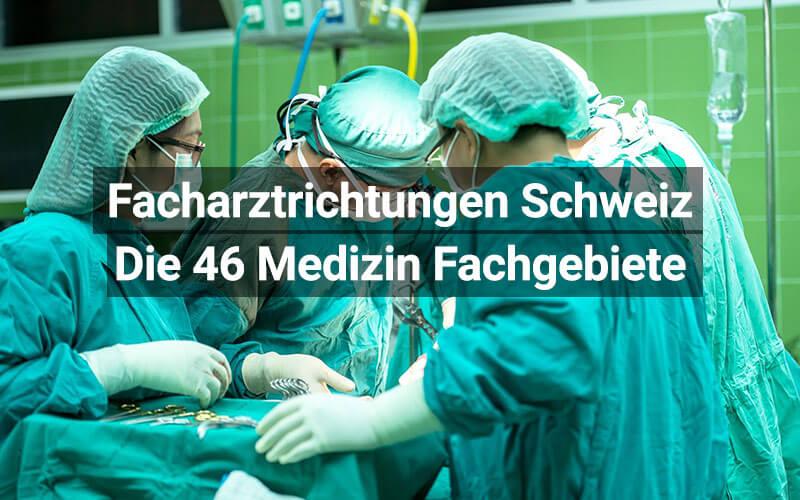 Facharztrichtungen