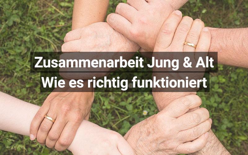 Zusammenarbeit Von Jung Und Alt
