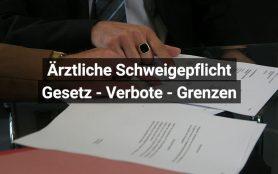 Ärztliche Schweigepflicht Schweiz