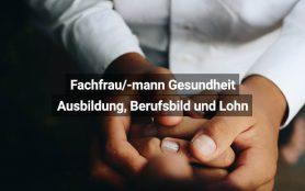 Fachfrau Gesundheit Schweiz