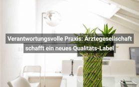 Verantwortungsvolle Praxis Ärztegesellschaft Schafft Ein Neues Qualitäts-Label