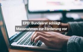 EPD Bundesrat Schlägt Massnahmen Zur Förderung Vor